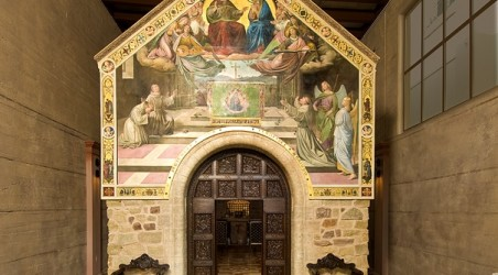 Nibbi Brothers Creates Reproduction of St. Francis of Assisi's Intricately Crafted Chapel, La Porziuncola Nuova.