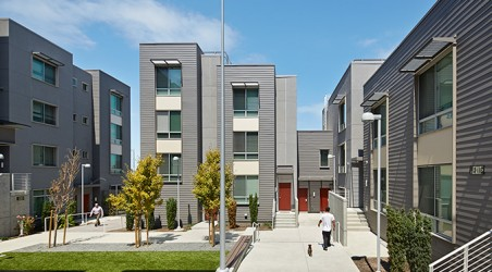 Affordable and Market-Rate Housing in the San Francisco Bayview District.