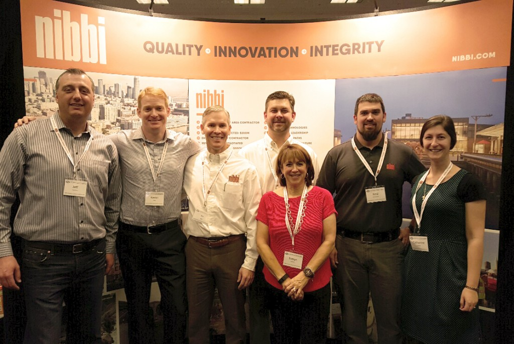 From left to right: Jeff Hartman (Nibbi Concrete Division Manager) Kieran Daly (Project Manager), Joe Olla (VP of Business Development & Marketing), Axel Boren (Project Executive), Evelyn Wickers (Director of Human Resources), Reid Etcheverry (Assistant Project Manager), Catherine Young (Marketing Communications Coordinator)