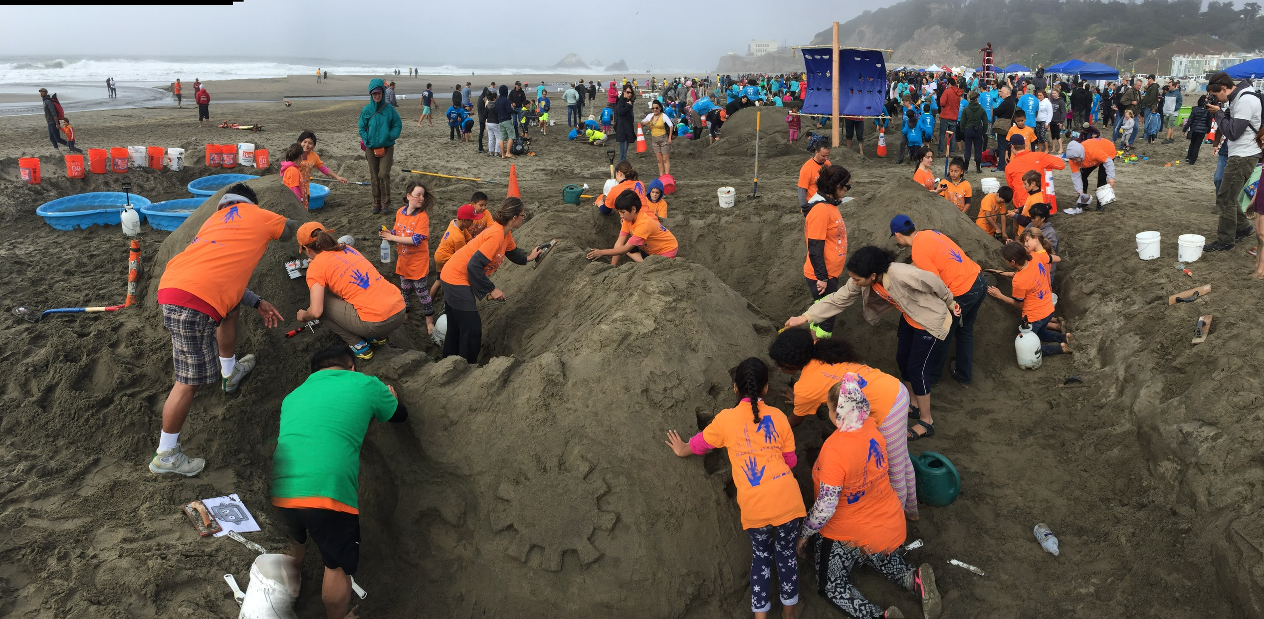 A Day in the Sand with LEAP and Junipero Serra Elementary!