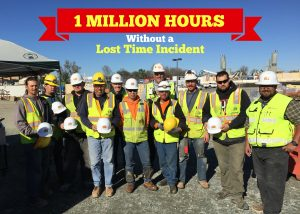 Celebrating 1 Million Hours Without a Lost Time Incident