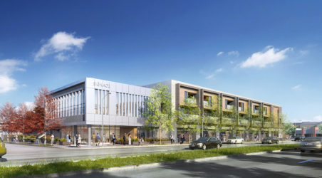 New mixed-use residential/commercial building